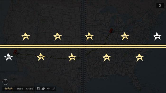 2300 miles of America
