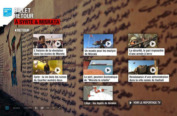 Billet retour à Syrte et Misrata