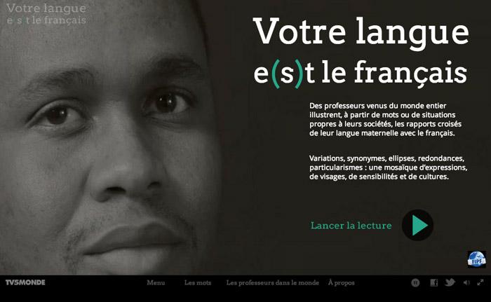 Votre langue e(s)t le Français